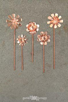 How to make Copper Garden Art Flowers