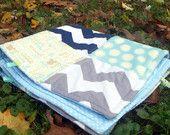 Cute Handmade Custom Chevron Crib Sheet -  Heirloom quality - 16 colors available. $30.00, via Etsy.