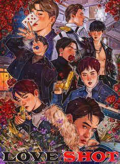 Wall paper kpop exo fanart 33 ideas for 2019 Suho, Exo Ot12, Kpop Exo, Exo Kokobop, Exo Kai, Kpop Fanart, Shinee, Jonghyun, Chibi