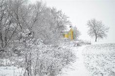 La ferme l'hiver
