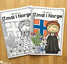 Naturfagserie for barn 17. Mai, May National Days, Norway Facts, Sons Of Norway, Constitution Day, Facts For Kids, Paper Hearts, Holidays And Events, Coloring Books
