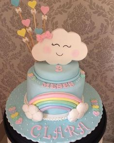 Happy cloud cake! - Rain of Love party ideas by The Party Project
