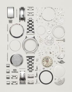 Things Come Apart by Todd McLellan in pictures - Watch - Ideas of Watch - Credit: Todd McLellan/Thames & Hudson Disassembled Russian Vostok watch from the Number of parts: 130 Tapetes Art Deco, Innovation Design, Things Organized Neatly, Exploded View, Vostok Watch, Watches Photography, Coming Apart, Take Apart, Grafik Design