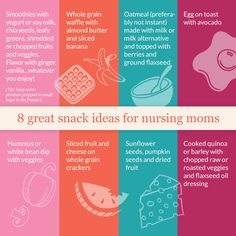 8 Great Snack Ideas for Nursing Moms: What to eat when breastfeeding