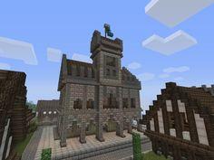 Town Hall Minecraft medieval Minecraft Minecraft medieval village