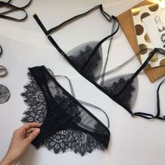 LUNA set on the way to its new home 🎁🎁🎁 order yours in my shop! Belle Lingerie, Designer Lingerie, Pretty Lingerie, Luxury Lingerie, Black Lingerie, Beautiful Lingerie, Hot Lingerie, Black Bra, Lingerie Outfits