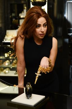 Lady Gaga Photos Photos - Lady Gaga visits Harrods London to celebrate the launch of debut Lady Gaga fragrance, Fame at Harrods on October 7, 2012 in London. England. - Lady Gaga Launches Debut Fragrance, Fame At Harrods, London