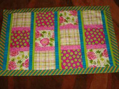 Bright baby/toddler blanket/quilt In Hot Pink by EmilHansDesigns, $40.00