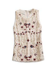 Floral Embroidered Tank | Lucky Brand