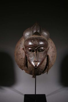 Africa | Mask from the Baoulé people of the Ivory Coast | ca. 40 yrs old