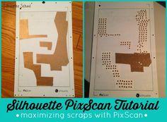 Using Silhouette PixScan to Maximize Scraps