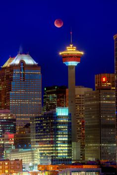 Tower, Bankers, Blood moon, Calgary - by David Buhler. Calgary was my home for 48 years. It went from a city of to million in that time. O Canada, Alberta Canada, Canada Travel, Canada Trip, Calgary, Ontario, Vancouver, British Columbia, Rocky Mountains