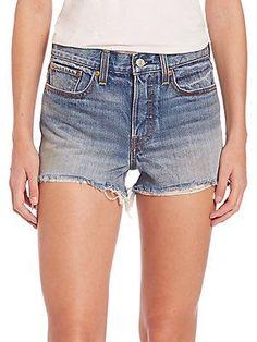 Levi's Wedgie Denim Cut-Off Shorts - Buena Vista