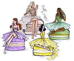 Lady Macaron collection by Hayden Williams: Vanilla, Pistachio, Berry & Lemon.