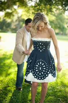 Really cute blue and white dress