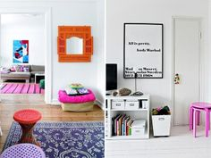 neutral and neon at home 5 by apairandaspare, via Flickr