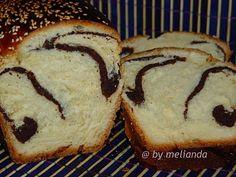 Cozonac cu nuca si cacao (partial la masina de paine)