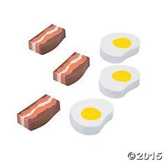 Bacon & Egg Erasers