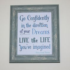 Live the Life You've Imagined Art Print / by TheSignPatch on Etsy, $14.00
