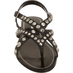 Miu Miu Studded Gladiator Sandal at Barneys.com