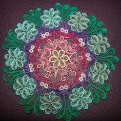 Quilled mandala by Francesca Antonaci