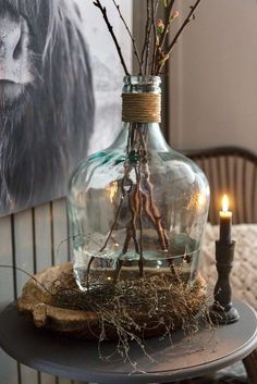 Junina party decoration: 80 inspirations to hit the right choice - Home Fashion Trend Rustic Elegance, Rustic Style, Rustic Home Design, Branch Decor, Deco Floral, Valentines Day Decorations, Paper Decorations, Scented Candles, Decorative Accessories