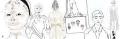 Sketchy memories of Paris Fashion Week SS16 #Givenchy - #Valentino - #Chalayan - illustrated by Chiara Rigoni #fashionillustration #illustration #chiararigoni #styling #details #ChiaraRigoni