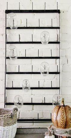Mason Jar Rack