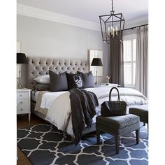 Black, white and every shade in between! Very cool bedroom by Sneller Custom Homes - See more at: http://iconosquare.com/viewer.php#/detail/1156147737728195371_851382629