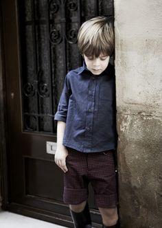 Camisa y bermuda cuadros niño de pepitobychus.  Síguenos en facebook www.facebook.com/pepitobychus