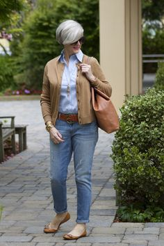 blue jeans and button-down | Style at a certain age