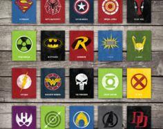 INSTANT DOWNLOAD  Complete Comic Book Hero Print Set
