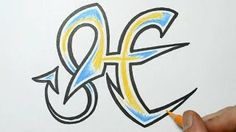 How to draw graffiti letter - H