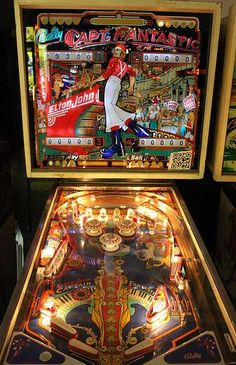 Elton John's Captain Fantastic Pinball Machine