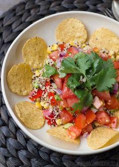 Quinoa Nachos with Pico de Gallo, super tasty and nutritious!