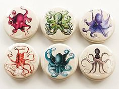 Octopus 1 inch fridge Magnets beach home decor tentacles ...