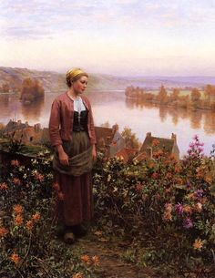 Knight_Daniel_Ridgway_A_Garden_above_the_Seine_Rolleboise
