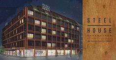 Luxury Hostel in Copenhagen -Luksuriøst og prisbilligt hostel åbner i København. Steel House Copenhagen sætter i sommeren 2017 en helt ny standard for hostels. Book en seng i dag!