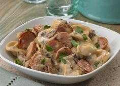 Johnsonville Tortellini and Sausage in Gorgonzola Cream Sauce