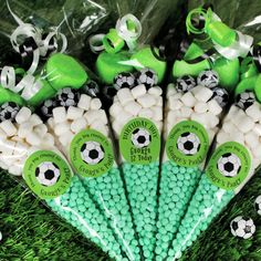 Personalised Football sweet cones Football themed sweet cone party favours for sporty kids! Soccer Birthday Parties, Soccer Party, Football Birthday Cake, Cake Birthday, 8th Birthday, Sweetie Cones, Childrens Party, Party Bags, Party Time