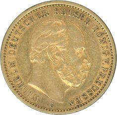 Prussia 1876,20 M. Wilhelm I., A, gold (troy weight 7, 17), ss / vz    Dealer  Hettinger Auctions    Auction  Minimum Bid:  200.00EUR