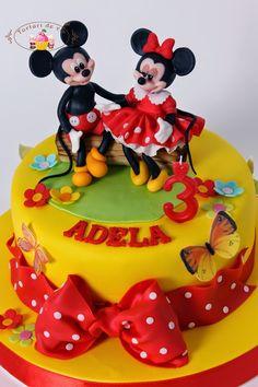 Torturi - Viorica's cakes: Tort cu Mickey si Minnie pentru Adela