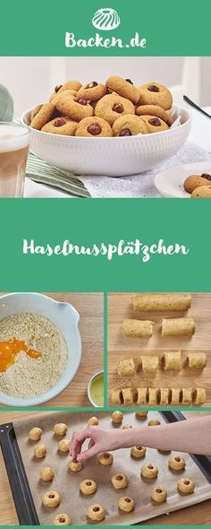 Haselnussplätzchen So small, so delicious, made so fast: hazelnut cookies must not be missing on any pre-Christmas coffee table. Christmas Baking, Christmas Cookies, Christmas Coffee, Baking Recipes, Dessert Recipes, Cap Cake, Cake Cookies, Biscotti, Food And Drink