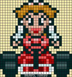 Princess Peach - Mario Kart Perler Bead Pattern - BEADS.Tokyo