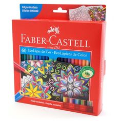 LÁPIS DE COR SEXTAVADO ESTOJO C/60 CORES EDIÇÃO LIMITADA REF.120160 FABER-CASTELL - GrafittiArtes Faber Castell 60 Cores, Colores Faber Castell, Cute School Supplies, Diy Supplies, Art Shed, Stationary Store, School Tool, School Calendar, Calligraphy Pens