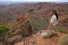 Picture of a man overlooking a ridge in the Arkaroola Wilderness Sanctuary