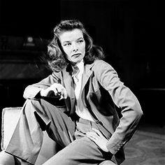 Katherine Hepburn: inspiration for all lady sartorialists.