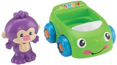 Fisher Price Laugh & Learn Monkey's Learning VehicleA great monkey figure for baby that is a rattle. Baby can place the monkey figure inside the car to go for a ride. The car will play music and learn...
