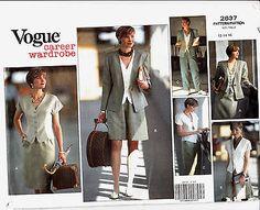 VOGUE Wardrobe Jacket Top Skirt Shorts Pants Sewing Pattern 2637 Uncut 12-16