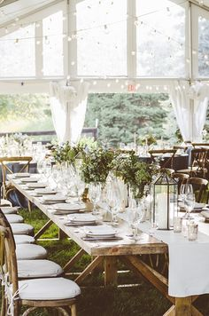 Pretty White and Green Reception